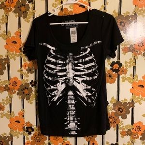 Skeletal black shirt